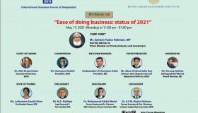 IBFB-BIDA-BEI Webinar on the 'Ease of Doing Business in Bangladesh', 17 May 2021