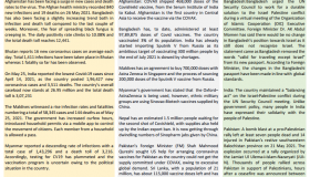 BEI Weekly News Highlights: A Brief Highlights on Current Issues of South Asia, May 21, 2021-May 26, 2021