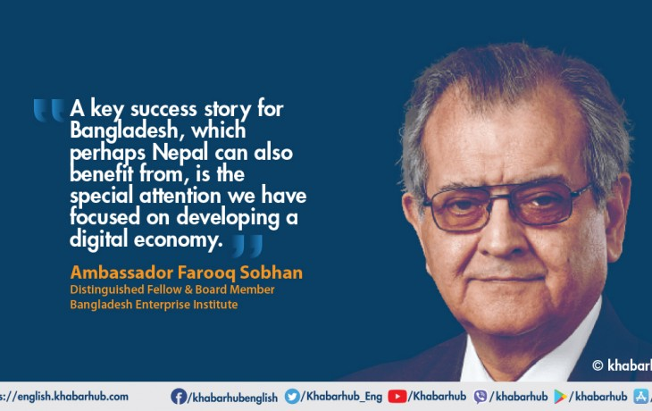 An interview of Ambassador Farooq Sobhan, Distinguished Fellow & Board Member, Bangladesh Enterprise Institute on the issues related to the Foreign Policy of Bangladesh taken by Dr. Pramod Jaiswal, Strategic Affairs Editor at Khabarhub